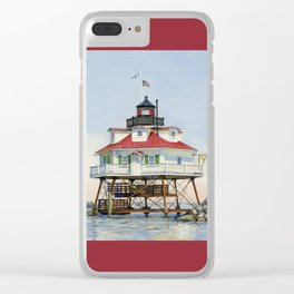 Thomas Point Light Clear iPhone Case
