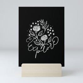 Explore and be curious Mini Art Print