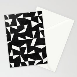 Mid-Century Modern Pattern No.10 - Black and White Concrete Stationery Cards