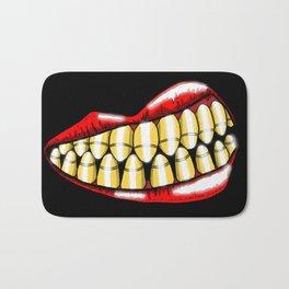 Bullet Teeth Bath Mat