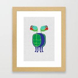Animal Mardi Gras: Turtle Framed Art Print