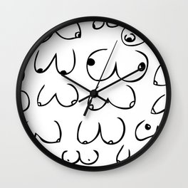 Boobs for days Wall Clock