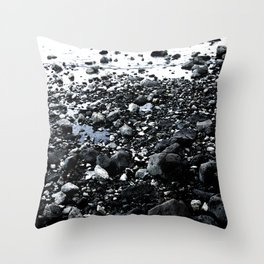 Lisbon - Tagus Beach Throw Pillow