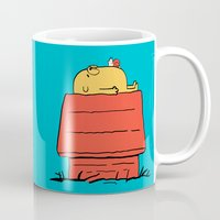 snoopy Mugs featuring Snoopy Time! by penguinline