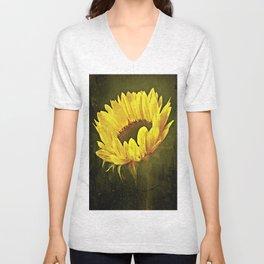 Petals Of A Sunflower Unisex V-Neck