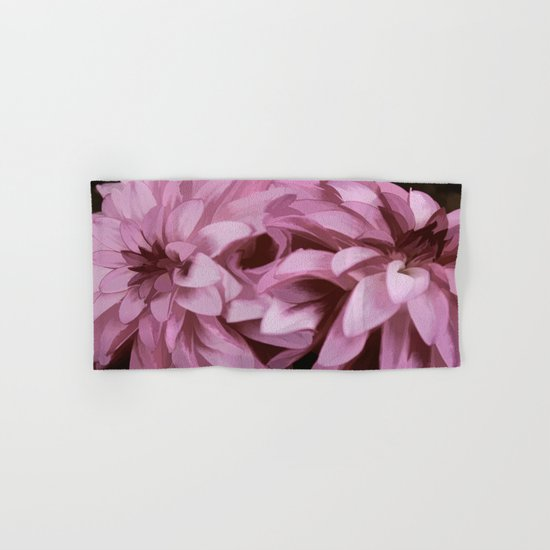 Just The Two Of Us - Painterly Dahlias Hand & Bath Towel