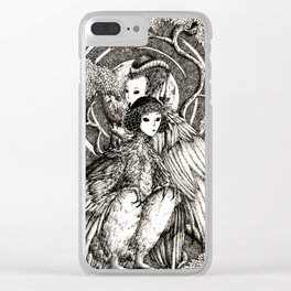 Harpy sisters Clear iPhone Case