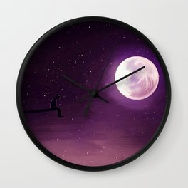 Talking to the Moon Wall Clock
