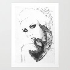 Mask girl Art Print