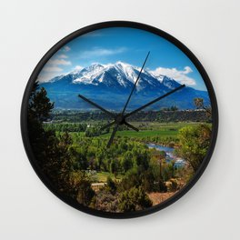 USA Colorado Nature Mountains forest Scenery mountain Forests landscape photography Wall Clock