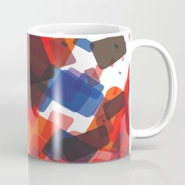 RED, BLACK AND BLUE SQUARES Abstract Art Coffee Mug