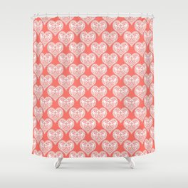 Lace heart Shower Curtain