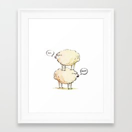 Dolly the Sheep (and Clone) Framed Art Print