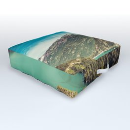 Lake Diablo - Blue and Green Water and Trees Outdoor Floor Cushion