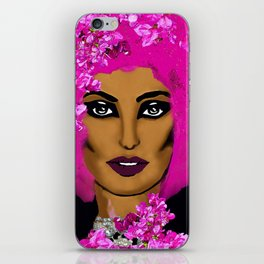PINK AFRO AND FLOWERS ADVENTURES iPhone Skin