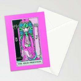 2. The High Priestess- Neon Dreams Tarot Stationery Cards