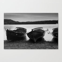 Boats on Windermere Lake Canvas Print