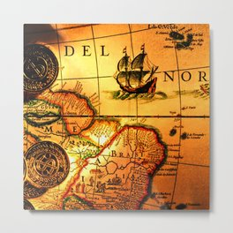 map sea Metal Print
