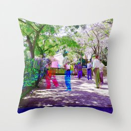 It's suggested to appreciate time as a collection. Throw Pillow