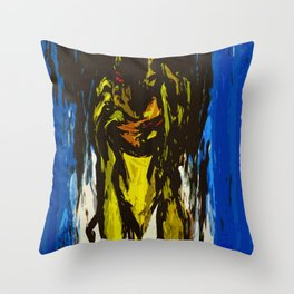The Slit-Mouthed Woman Throw Pillow
