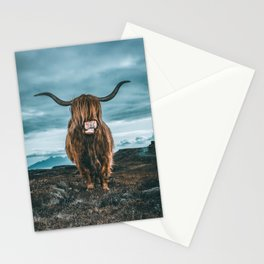 Rusty The Scottish Highland Coo Stationery Cards