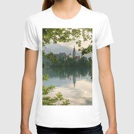 Lake Bled evening island Slovenia Europe T-shirt