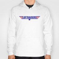 top gun Hoodies featuring Luftrausers - Top Gun Logo by kevin broke it
