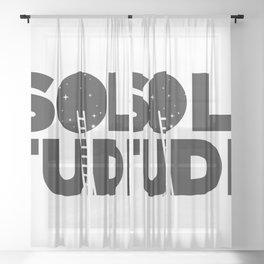 HAPPY SOLITUDE (B&W) Sheer Curtain