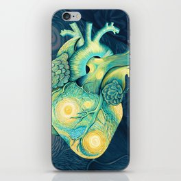 Anatomical Human Heart - Starry Night Inspired iPhone Skin