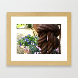 Knotted Framed Art Print