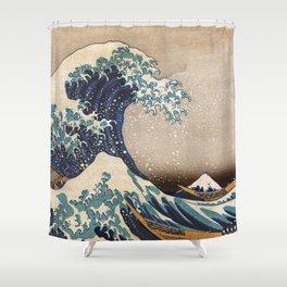 The Great Wave off Kanagawa Shower Curtain