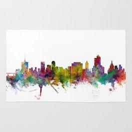 Tulsa Oklahoma Skyline Rug