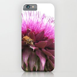 Bug on a thistle iPhone Case