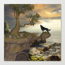 The lonely wolf Canvas Print