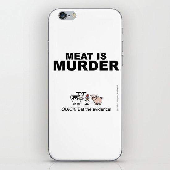 MEAT IS (tasty) MURDER iPhone & iPod Skin
