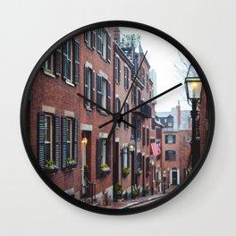 Acorn Street in Boston Wall Clock