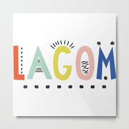 Lagom colors Metal Print