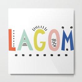 Lagom colors Metal Print