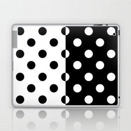 POLKADOTS (BLACK-WHITE) Laptop & iPad Skin