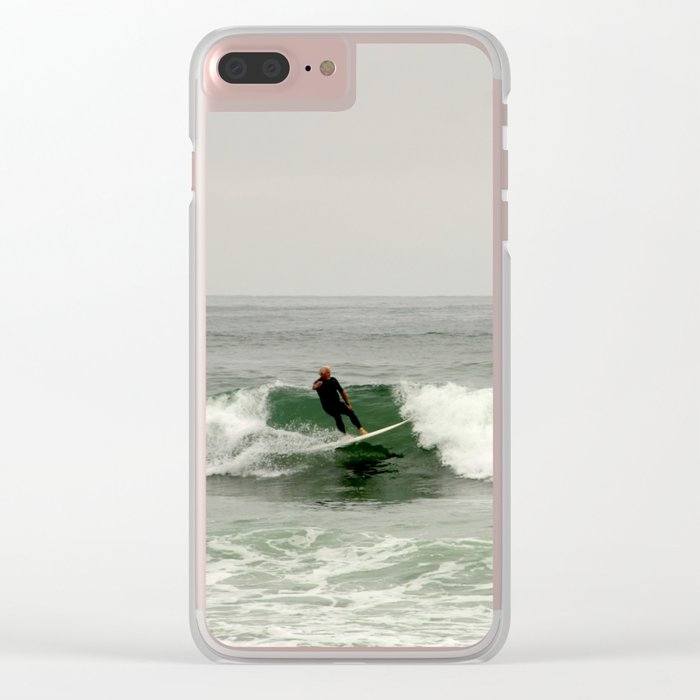 Breaking the waves Clear iPhone Case