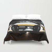 old school Duvet Covers featuring Old School by Anand Brai