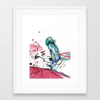 randy c Framed Art Prints featuring Randy by M.GrondinArt