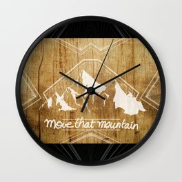 Move the mountain Wall Clock