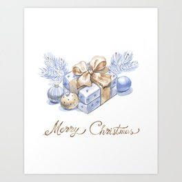 Christmas gifts and surprises. Art Print