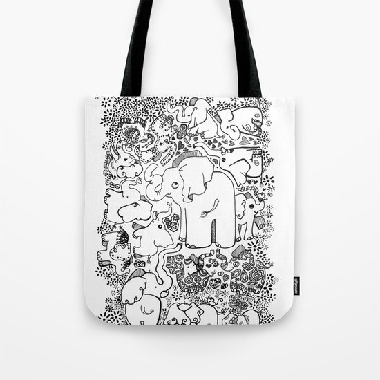 Little Elephants Tote Bag