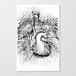 Map of the Human Heart Canvas Print
