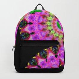 Vibrant Pink Love Mandala Art by Sharon Cummings. Backpack