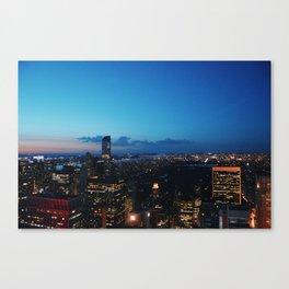New York lights Canvas Print