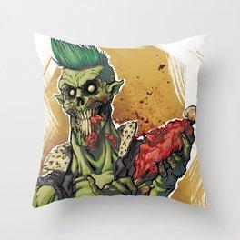 Yummy Zombie Throw Pillow