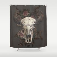 marc Shower Curtains featuring Nightshade by Terry Fan